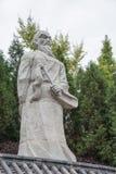 陕西,中国- 2014年10月13日:张三丰雕象金泰的 库存图片