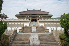陕西,中国- 2014年10月13日:炎帝寺庙 著名Histo 免版税库存照片