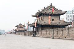 陕西,中国- 2015年6月01日:西安城市墙壁  著名Histo 免版税库存图片