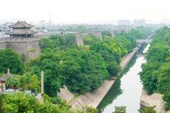 陕西,中国- 2015年6月01日:西安城市墙壁  著名Histo 免版税库存照片