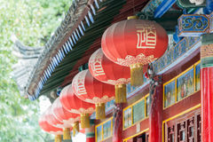 陕西,中国- 2014年10月13日:金泰寺庙 一个著名寺庙 库存图片