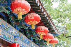陕西,中国- 2014年10月13日:金泰寺庙 一个著名寺庙 免版税图库摄影