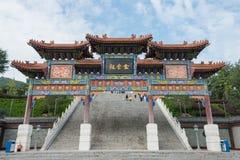 陕西,中国- 2014年10月13日:金泰寺庙 一个著名寺庙 免版税库存照片