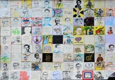 陛下Bhumibol国王画象泰国艺术家绘画  免版税库存图片
