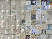 陛下Bhumibol国王画象泰国艺术家绘画  免版税图库摄影