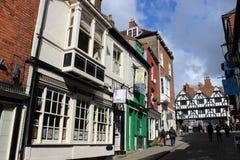 陡峭的小山英国的了不起的街道2012年优胜者 免版税图库摄影
