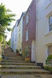 陡峭的步Brixham Torbay德文郡Endland英国 库存图片