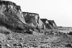 陡峭的海岸 免版税库存图片