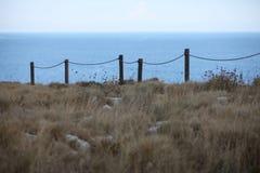 陡峭的海岸 库存照片