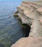 陡峭的海滨 库存照片