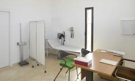 医院内部。篡改有家具的办公室。 库存图片
