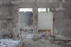 医院废墟 库存照片