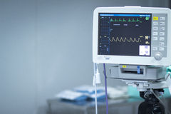 医院手术心率显示器屏幕 库存图片