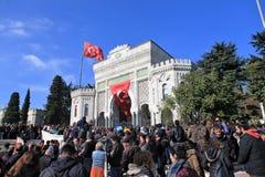 院抗议在土耳其 库存照片
