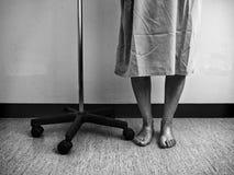 医院病残妇女 图库摄影