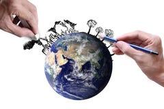 除世界之外 免版税图库摄影