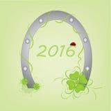 除夕-新年好2016年 免版税库存照片