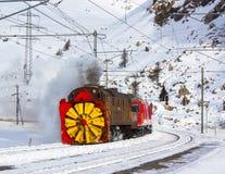 除雪机蒸汽 免版税库存照片