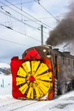 除雪机蒸汽 免版税库存图片