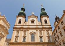 阴险的人教会(大约1631)在维也纳,奥地利 免版税图库摄影