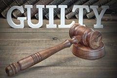 陪审团判决概念 免版税图库摄影