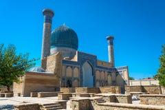 陵墓Gur埃米尔,撒马而罕,乌兹别克斯坦 库存照片