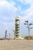 陵长的塔在北京奥林匹克公园 免版税库存照片