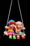 陶器儿童玩偶 库存图片