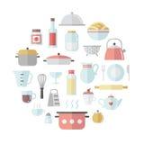陶器和烹调平的圈子传染媒介例证 向量例证