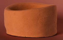 陶器容器 免版税库存照片
