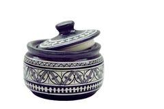 陶器模式罐 免版税库存图片