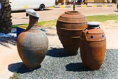陶器的破片阿拉伯语迪拜 库存图片