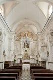 陶尔米纳, Varà ²教会的内部  库存照片