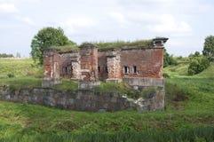 陶格夫匹尔斯(拉脱维亚)堡垒 免版税库存照片