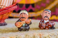 陶瓷乌兹别克人小雕象 图库摄影