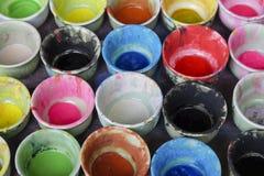 陶瓷五颜六色 库存图片