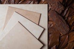 陶瓷叶子木头 免版税库存图片