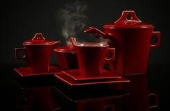 陶瓷咖啡收藏 免版税库存照片