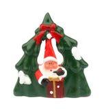 陶瓷圣诞节雕象结构树 免版税库存照片