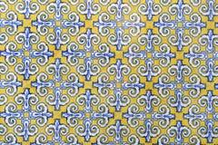 陶瓷墙壁瓦片在巴伦西亚,西班牙 图库摄影