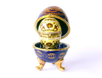 陶瓷复活节彩蛋 图库摄影