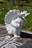 陶瓷天使,守卫天使公墓, 免版税图库摄影
