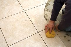 陶瓷安装瓦片 免版税库存照片