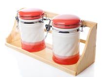 陶瓷容器 免版税库存照片