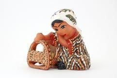 陶瓷小雕象乌兹别克语 库存图片