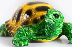 陶瓷小雕象乌龟 库存照片