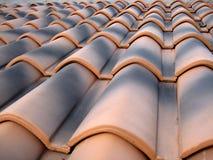 陶瓷屋顶纹理 库存图片