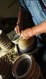 陶瓷工工作 免版税图库摄影