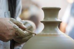 陶瓷工的现有量 免版税库存图片