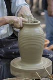陶瓷工的现有量 库存照片